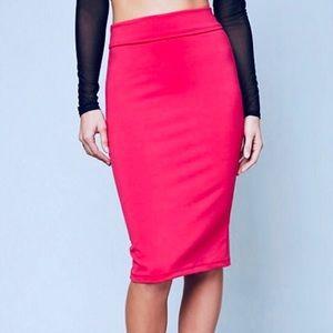 New pink bebe pencil skirt